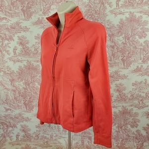 Adidas Womens Jacket Size Small Salmon Full Zip